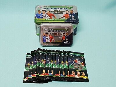 Panini Road to Uefa Euro 2020 Adrenalyn XL  Tin Box + Mini Tin  + 12 Booster