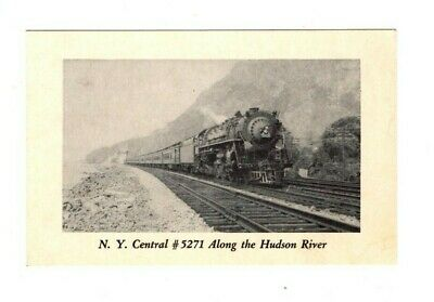 Vintage postcard New York central number 5271 along the Hudson River
