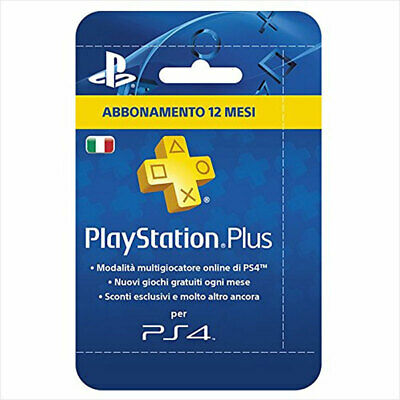 Abbonamento PlayStation Plus 12 mesi 365 giorni 1 anno | PSN PS4 PS3 PS Vita -IT