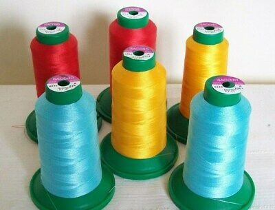 10 x 75s 100/% POLYESTER THREAD,VARIOUS COLS~1000 METER EACH SPOOL~SUPERIOR QUAL