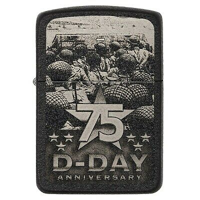 Zippo Black 75th Anniversary D-Day Limited Edition Military Design Cigar Lighter