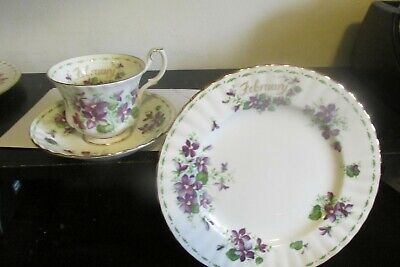 Royal Albert Flower of The Month Montrose Style Cup Saucer & Dessert February