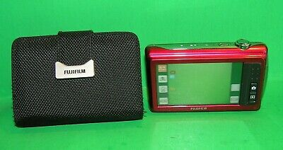 Fujifilm FinePix Z90 Red 14.0MP Digital Camera  W/ Original Box & Paperwork