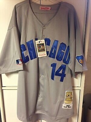 61a92852d77 RON SANTO 1969 Chicago Cubs Mitchell & Ness Authentic Away Jersey ...