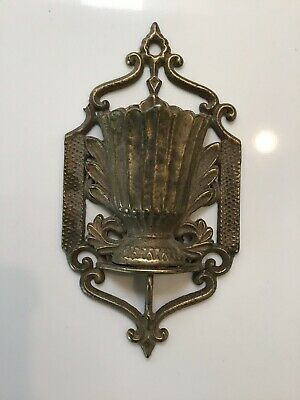 Antique Wall Cast Iron Bronze Color Match Holder 1867 Patented Date