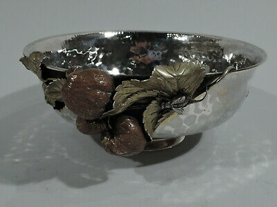 Gorham Bowl - 1845 - Antique Japonesque - American Sterling Silver Mixed Metal
