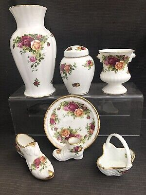 ROYAL ALBERT OLD COUNTRY ROSE  JOB LOT OF 7 Small  Quality Items