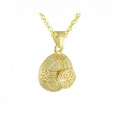 10K Ancient Celtic Solid Gold Pendant/Necklace Funeral Cremation Urn for Ashes