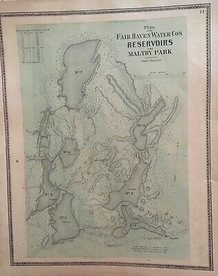Plan of the Fair Haven Water Co's Reservoirs and Maltby Park 1868