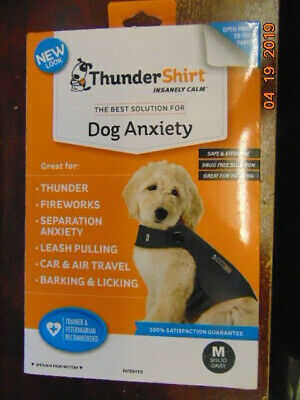 THUNDER SHIRT for ANXIETY SOLID GRAY MEDIUM NEW