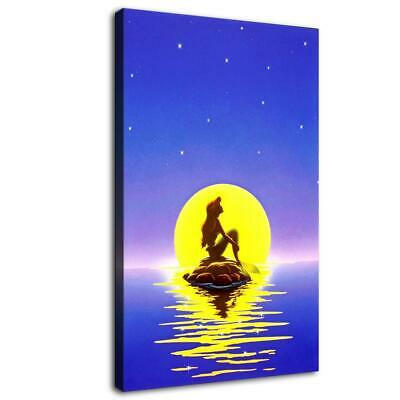 "12""x20""Mermaid Moonlight HD Canvas prints Painting Home paint Decor Wall art"