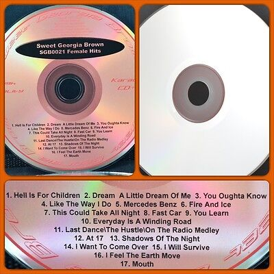 CDG CD+G Karaoke Singer Cover CD Oldies Rock Country Male Female Disc 021