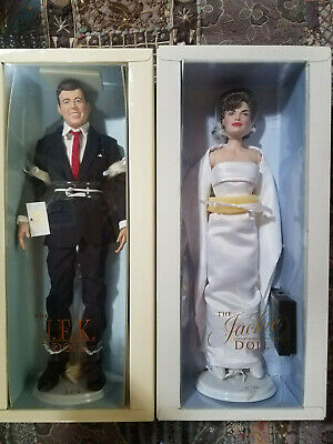 Jackie & John Kennedy DOLLS 13 OUTFITS, WEDDING DRESS, TRUNK, BINDER, BOOK, ALL!