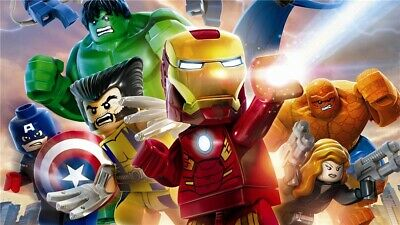 Lego Marvel's Avengers Painting HD Print on Canvas Home Decor Wall Art 20x36inch