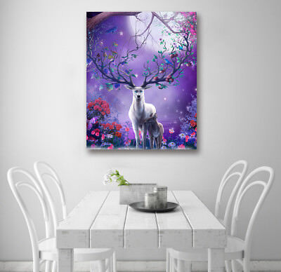 "16x20"" Abstract Art Wall Decor Photo Painting Canvas NO Frame Fairy Tale Deer"