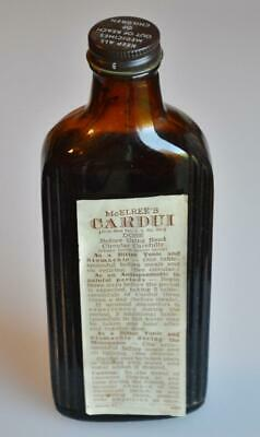 Antique McElree's Cardui Bitters Tonic Chattanooga Medicine Co. Brown Bottle