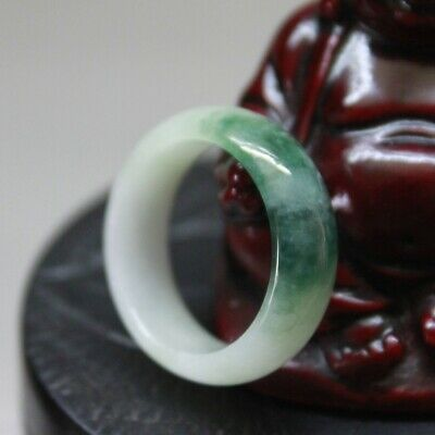 Size 7 3/4 ** Genuine JADE CERTIFIED Natural Type A Untreated Green Jadeite Ring