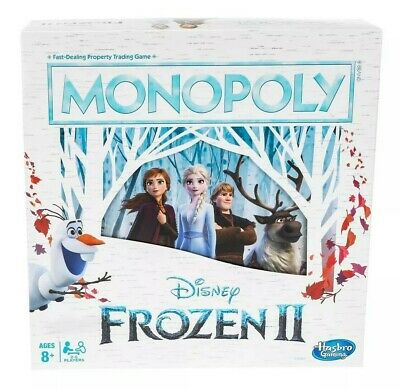 HASBRO Monopoly: Disney Frozen 2 Edition Board Game NIB/Sealed