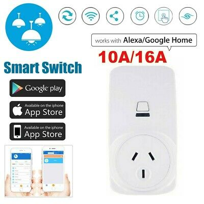 10A 16A Wireless Wifi Smart Power AU Plug Socket Switch for ECHO ALEXA GOOGLE