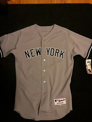 quality design 88fa4 7028e DEREK JETER NEW York Yankees Majestic Authentic Jersey Gray ...
