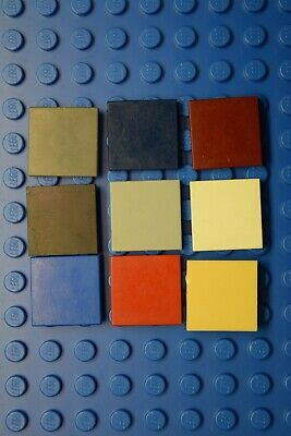 30 Pcs LEGO 3068 Orange 2 x 2 Smooth FLAT TILE 2 x 2 w// Groove Floor Element