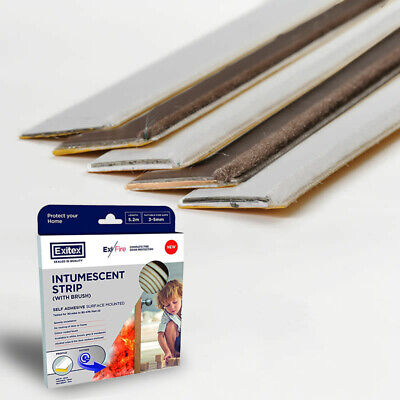 Self Adhesive Surface Mounted Intumescent Door Fire Smoke Seals Strip With Brush