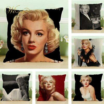 Sexy Goddess Marilyn Monroe Pattern Cushion Cover Pillow Cover Sofa Chair Car