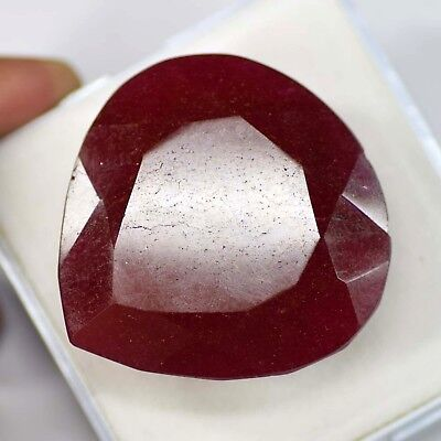Natural 264.00 Ct Fine Cut Real Corundum African Red Ruby Loose Gemstone
