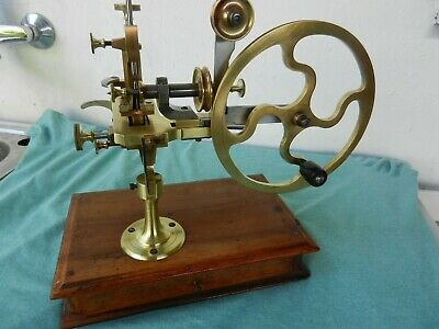 Antique gearwheel cutting machine watchmakers lathe rare good condition
