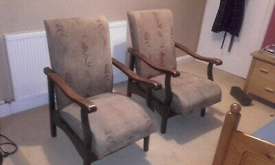 pair of pre-war classic antique 20th century chairs