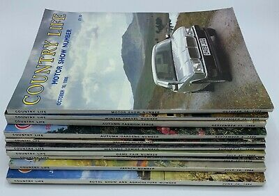 Lot of Country Life Magazine x 10 Issues from 1986 June to October