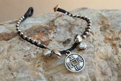Lucky Chinese Coin Charm Handmade Women Bracelet hippie Ethnic Tribal Hill Tribe