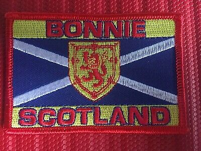 St. Andrews cross Saltire Lion Rampant Bonnie Scotland Embroidered sew on Patch