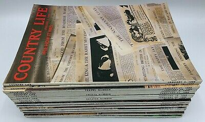 Lot of Country Life Magazine x 16  Issues from 1988 January to April