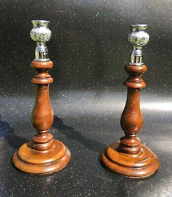 PAIR OF BEAUTIFUL ARTS AND CRAFTS Candle Holders Nice Display Piece
