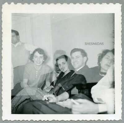 #290 DOUBLE EXPOSURE, Ghostly Party Goers, Men, Women, Vintage Photo