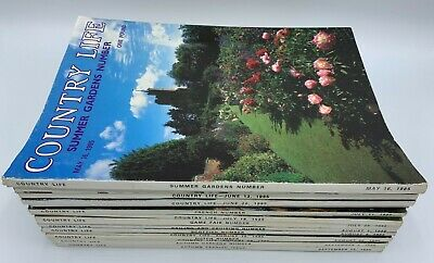 Lot of Country Life Magazine x 15  Issues from 1985 May to September