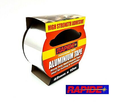 Rapide - Aluminium Tape Adhesive Strong And Reliable. Heat Proof. 10M