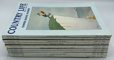 Lot of Country Life Magazine x 11  Issues from 1987 May to September