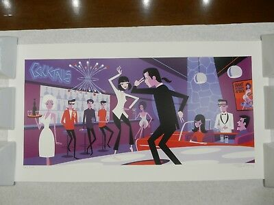 Shag Josh Agle - You Never Can Tell Serigraph # 38/200 Pulp Fiction Print!