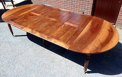 Huge Louis XV 18th Century French solid walnut extending dining table seats 16+