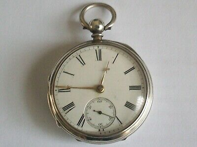 Lovely Antique Solid Silver Fusee Pocket Watch Chester 1877 Working
