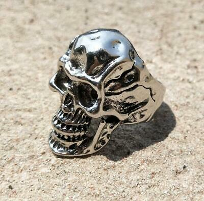 Heavy Men's Skull Stainless Steel Ring Gothic Vintage Fashion Jewelry Size 7-13