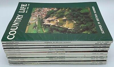 Lot of Country Life Magazine x 11  Issues from 1988 May to July