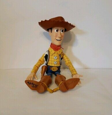 6c246e7d3 Disney Pixar Woody Toy Story Talking Pull String Works Hat 2005 Hasbro 13''  ANDY