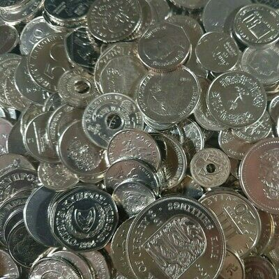 Bulk Job Lot 1.8kg Mixed WORLD / FOREIGN Coins No UK/US Approx 330 Silver Coins