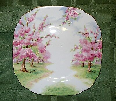 "Royal Albert Blossom Time Bone China Made in England 6"" SQUARE CAKE PLATE"