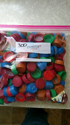 300 Plastic soda bottle caps