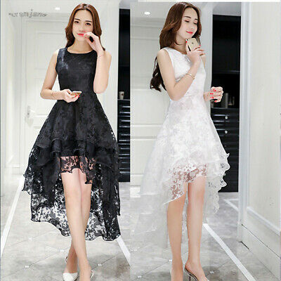 Lace Party Long Evening Cocktail Formal Wedding Gown Prom Bridesmaid Dress Women