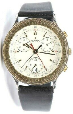 Vintage Movado, 27 Jewels Two Tone, Triple Chronograph & Date Quartz Wristwatch